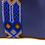 Thumbnail: Cristina Orozco Blue Leather Backpack