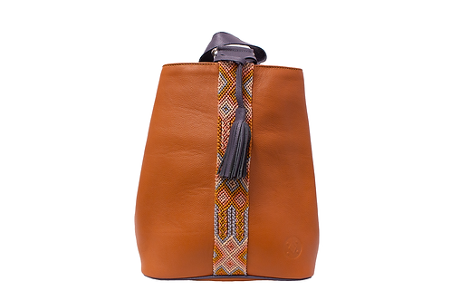 Cristina Orozco Tan Leather Backpack