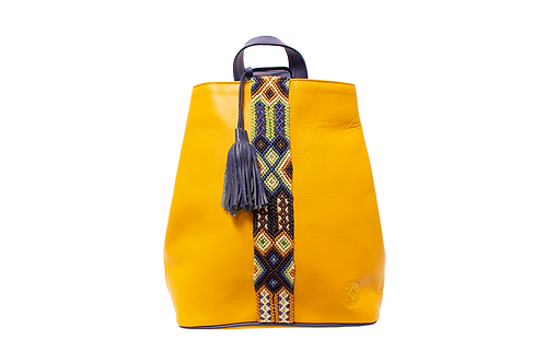 Cristina Orozco Yellow Leather Backpack