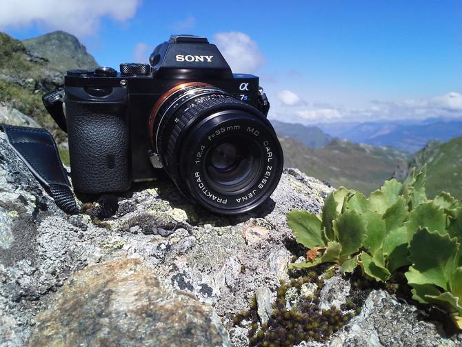 Austriackie Alpy w stylu vintage