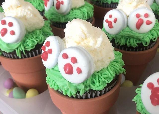 """""""Bunny Bum"""" Cupcakes"""