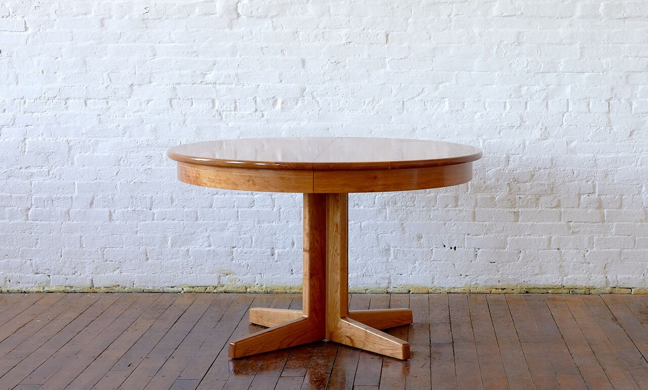 Extension Table (no leaves), Cherry