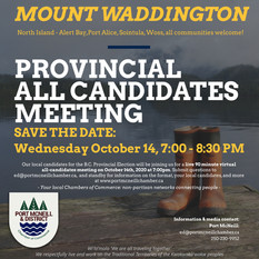 SAVE THE DATE: Provincial All Candidates Meeting - Mount Waddington