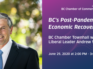 BC Chamber Event Invite: A Townhall with Opposition Leader Andrew Wilkinson, June 25th, 2020