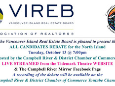 Campbell River Chamber is Hosting  Candidates in a Tuesday Night Debate - BC Election 2020
