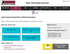 North Island: Voting locations, registration, and general information from Elections Canada