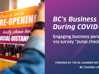 """BC Chamber """"Pulse Check"""" surveys move the dial with Government - do the 4th COVID19 survey"""