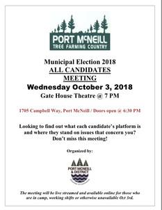 2018 Municipal All Candidates Meeting