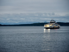 "Port McNeill Chamber of Commerce WELCOMES BC Ferries newest vessel ""Island Aurora"" to serv"