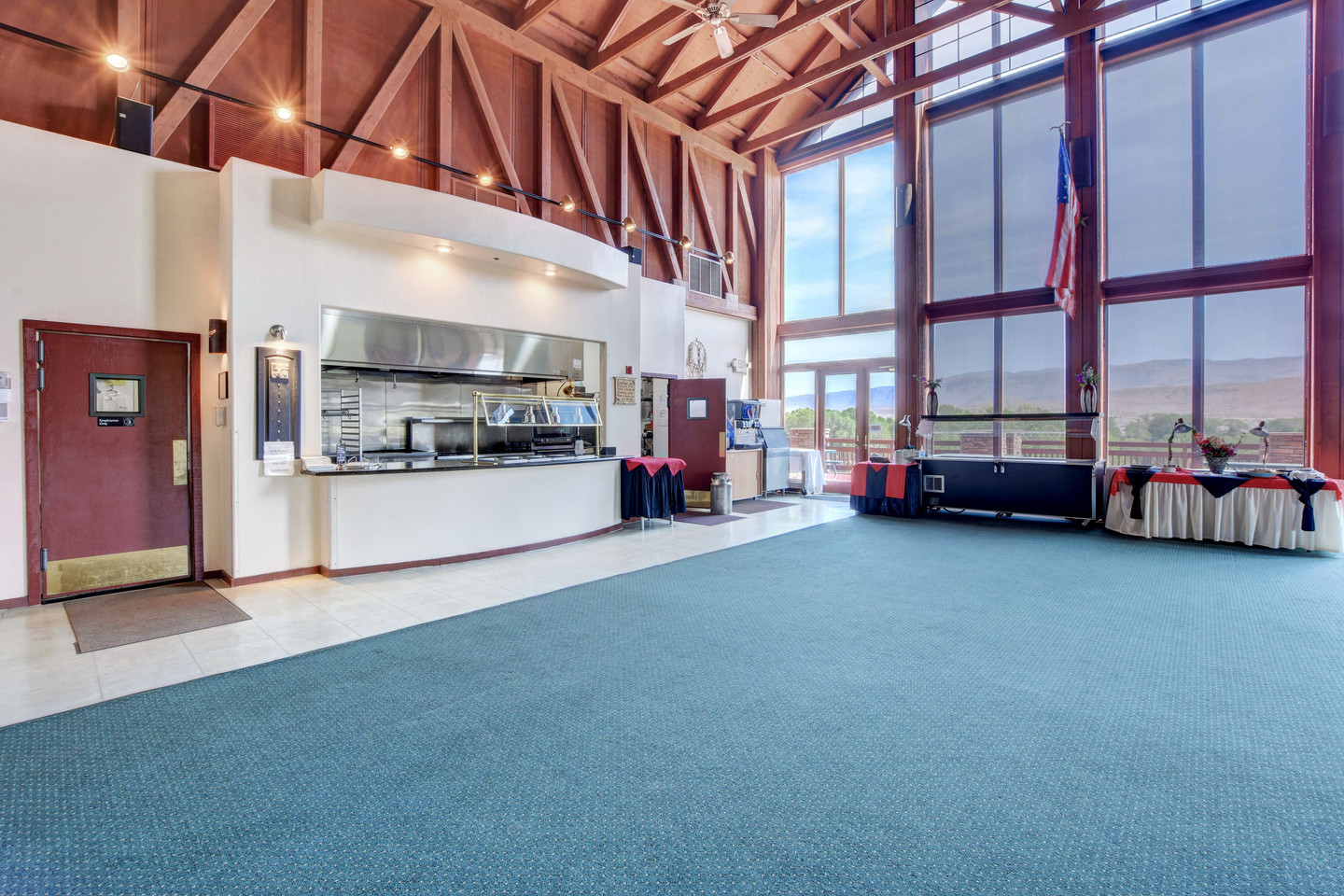 Main Banquet Hall with full professional kitchen