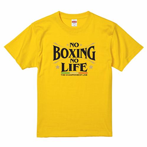 NO BOXING NO LIFE カナリアイエローTシャツ(フロントロゴ)