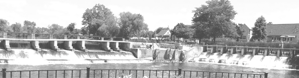 This is a picture of the Rockford Dam downtown
