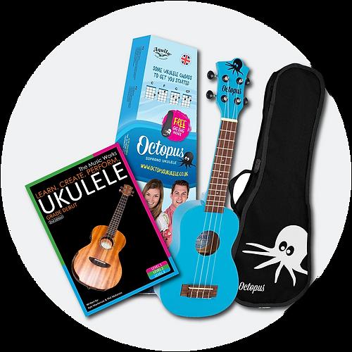 Buy blue Octopus Ukulele & beginner course book