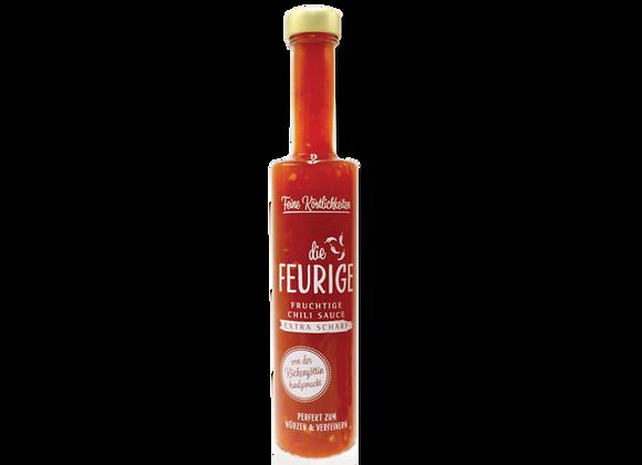 Die FEURIGE: fruchtig extra Scharfe Chili Sauce