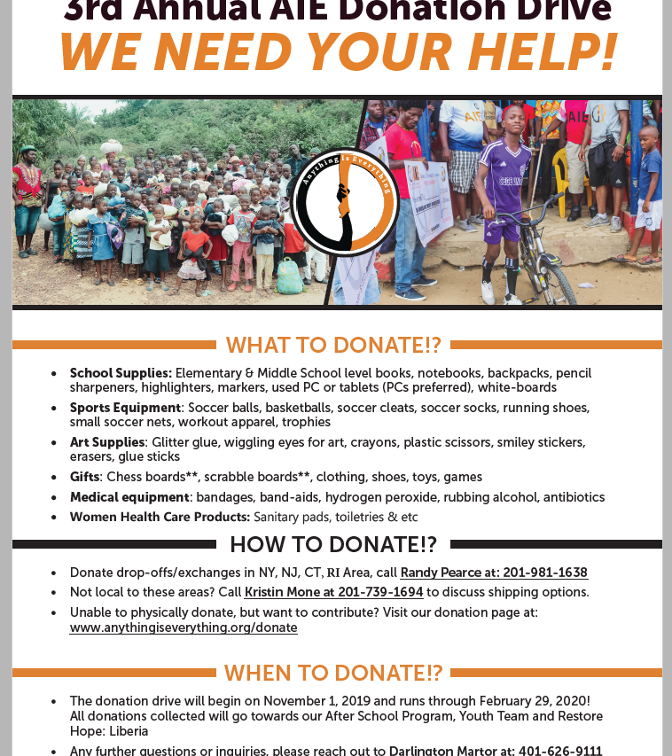 3rd Donation Drive
