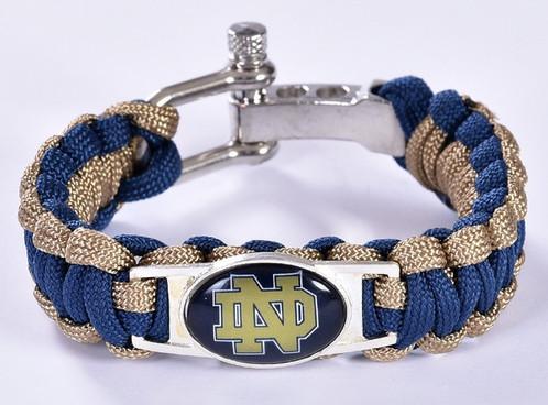 Notre Dame Uni Adjule Paracord Wristband