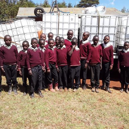 Christopher's Good Deeds Begin with Installation of Toilets at Kenya School