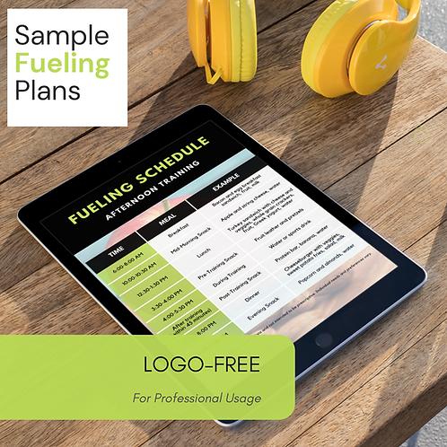 Logo Free Sample Fueling Plans