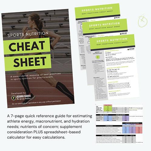 Sports Nutrition Cheat Sheet & Calculator