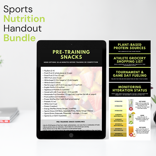 White Labeled Performance Nutrition Handout Bundle