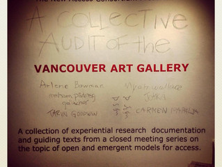 Exhibit at Gallery Gachet: A Collective Audit of the VAG Vancouver Art Gallery
