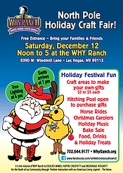 why ranch, white horse youth ranch, north pole holiday craft fair