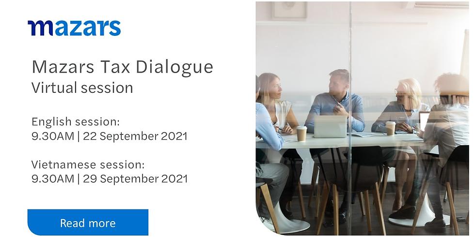 Mazars Tax Dialogue in September, 2021 - ENGLISH
