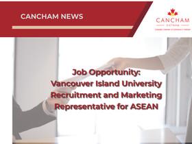 Job Opportunity: Vancouver Island University Recruitment and Marketing Representative for ASEAN