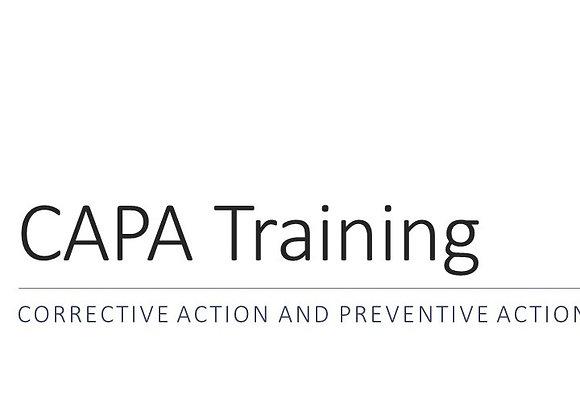 CAPA Training