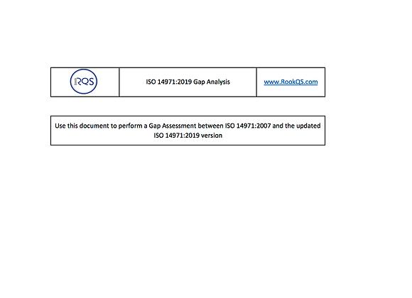 PFA: ISO 14971 Gap Analysis