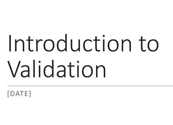 Validation Training