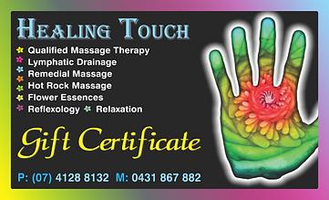 healing touch (gift certificate) PRESS.p