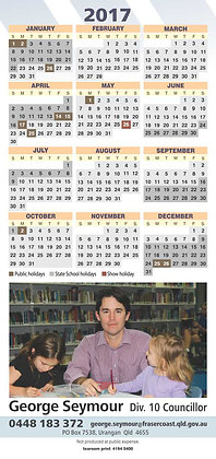 DL Calendars -  with magnet *
