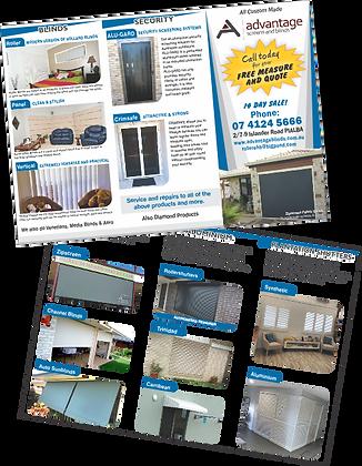 advantage screens & blinds (DL Roll Fold