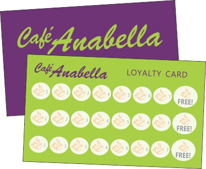Loyalty Business Card (for stamping)*