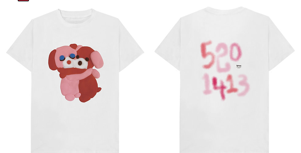 「5201413」HUGGING DOG T-shirt