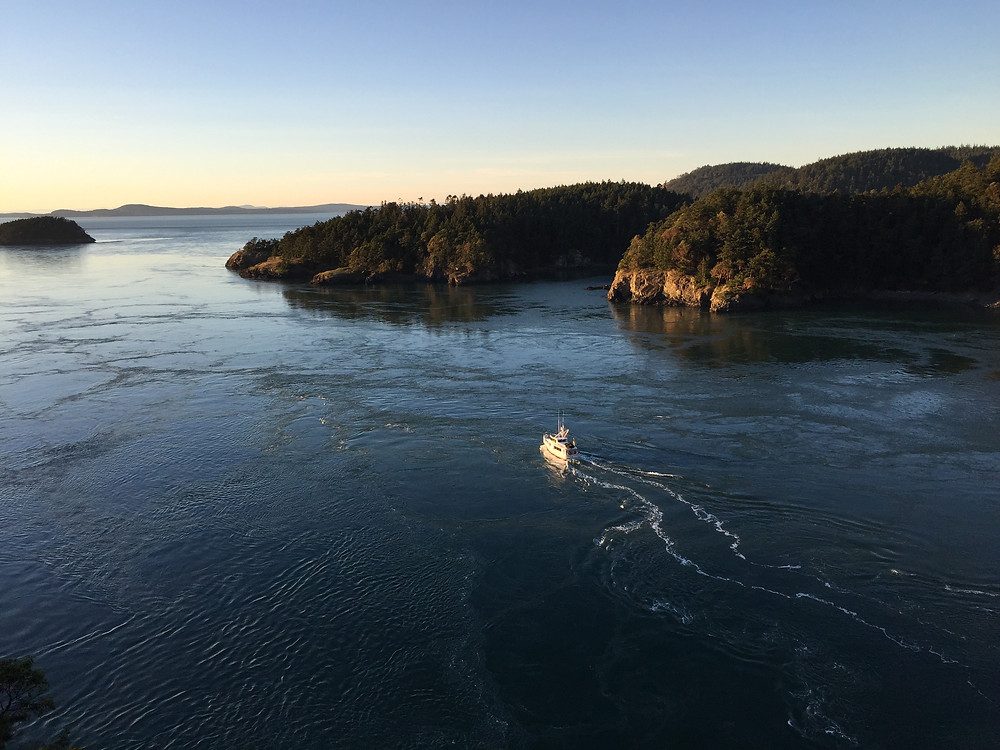 View from the bridge at Deception Pass, Whidbey Island