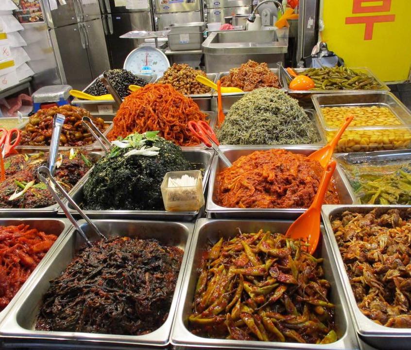 Pickled food heaven at Gwangjang Market in Seoul