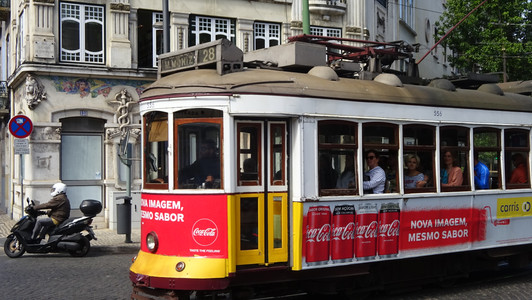 Traditional streetcars are still in operation -- but often overflowing with tourists