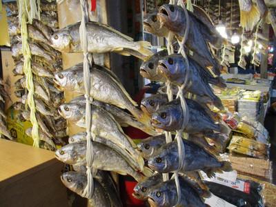 dried fish for sale at Gwangjang Market