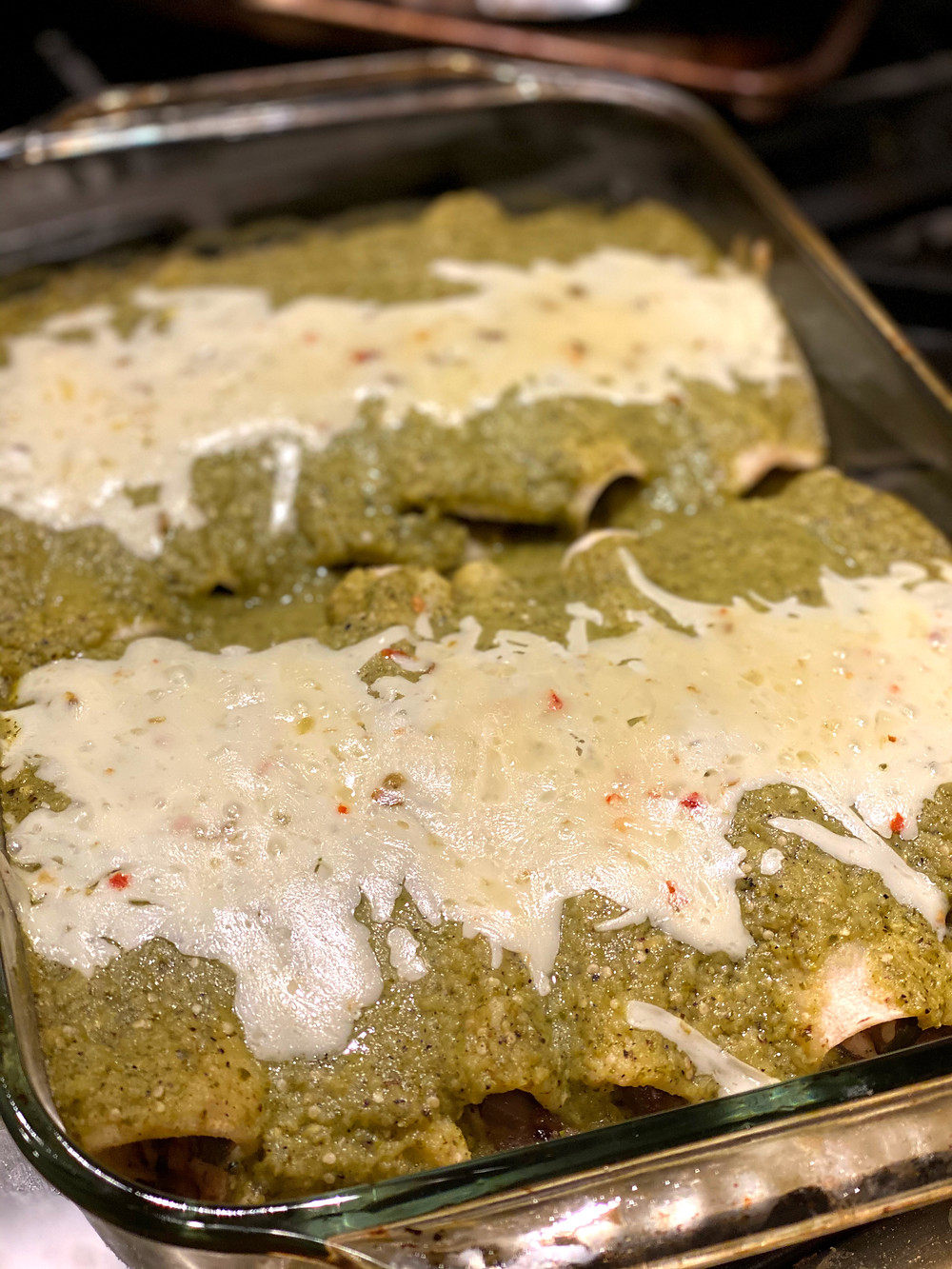 Too few tomatillos, way too much cilantro, and a general lack of flavor made these veggie enchiladas a lackluster dish