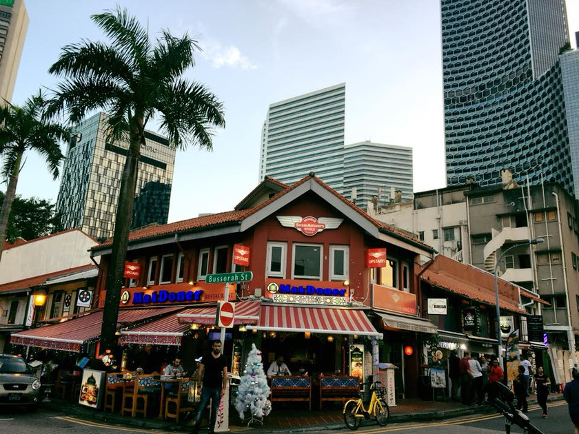 The old and the new in Singapore - taken from Arab Street