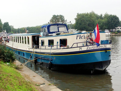 The Fleur a Dutch converted barge that now serves as a floating mini-hotel