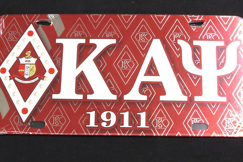 Kappa Alpha Psi - Printed Crest License Plate
