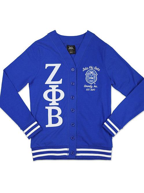 Zeta Phi Beta Light Weight Cardigan Blue