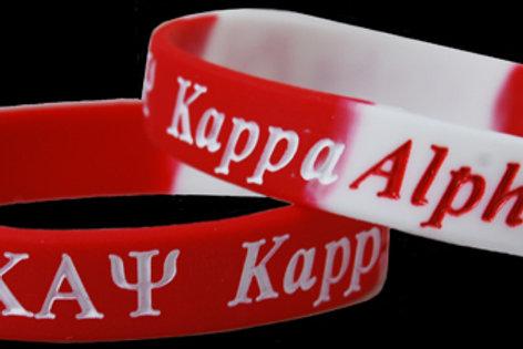 Kappa Alpha Psi 100% Silicone Bracelet