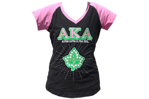 Alpha Kappa Alpha Tee Black