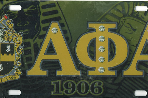 Alpha Phi Alpha - Printed Crest License Plate