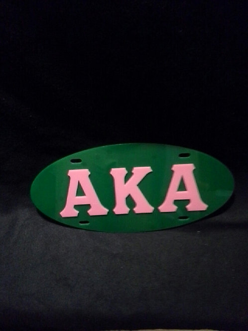 ALPHA KAPPA ALPHA GREEN OVAL ACRYLIC CAR TAG