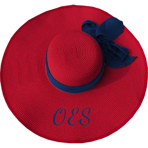 ORDER OF THE EASTERN STAR FLOPPY HAT RED